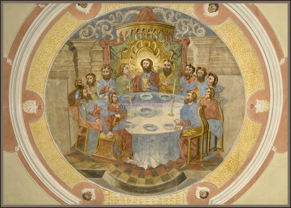Deckenbild Kilianskirche Waldbach